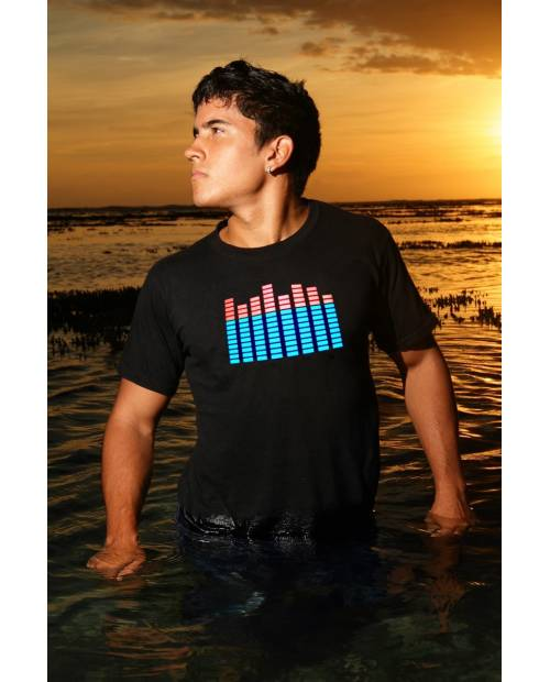"Tee Shirt Lumineux ""House Music"" Equalizer Ⓡ"