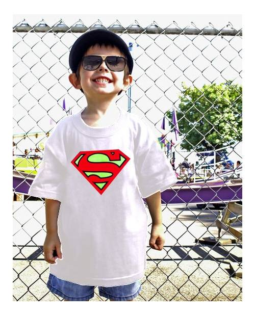 T Shirt Equalizer Superman Enfant Blanc