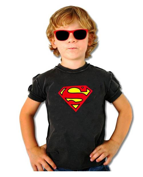 Equalizer T Shirt Superman Black Child