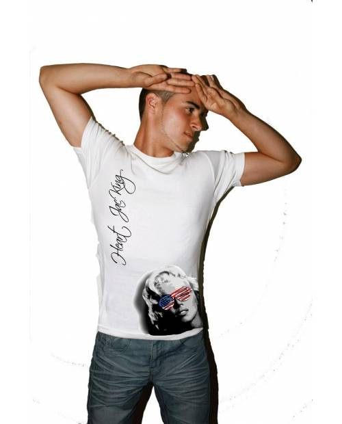 TEE SHIRT ORIGINAL : MARILYN MONROE USA HOMME