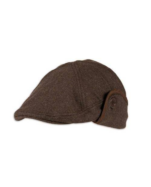 Leatherette Brown Beret