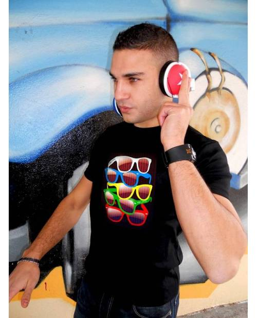 Tee Shirt Electro Luminescent Glasses II