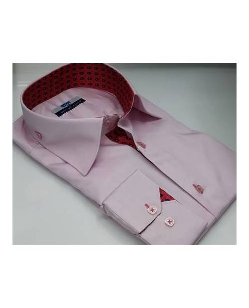 Men's Shirt Black and Pink Evening