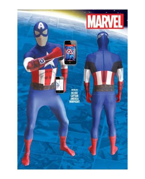 Captain America Costume Zentai