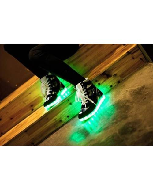 Chaussures LED Montantes 'High Camo'