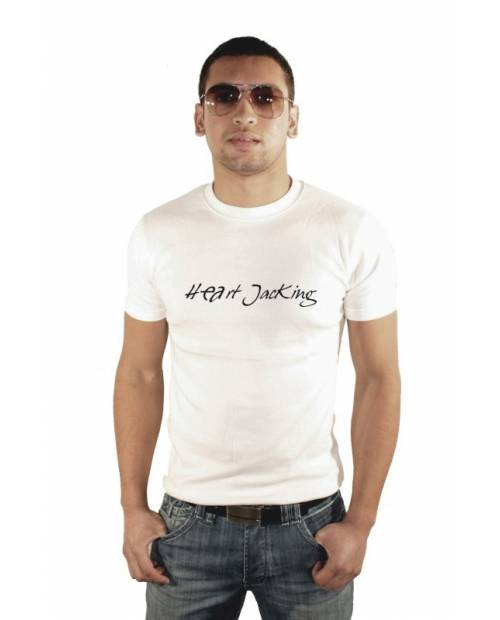 TEE SHIRT WHITE MAN HEART JACKING Classic2
