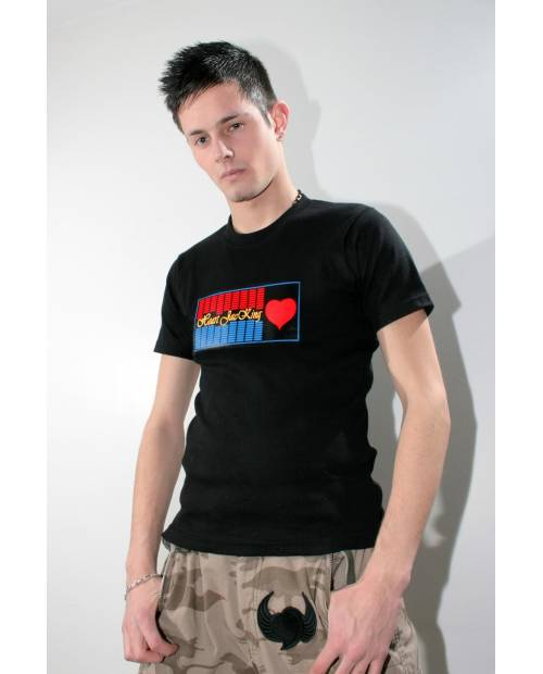 Equalizer T shirt Flashing Red Heart