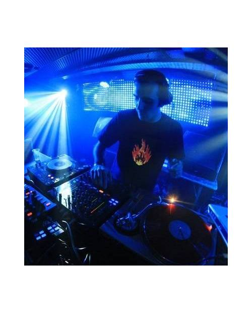 T Shirt Lumineux Equalizer Fire