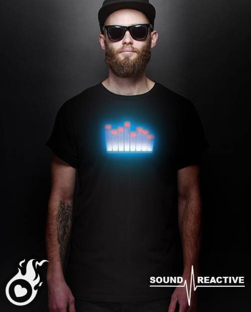 Tee-Shirt Lumineux Equalizer 3D