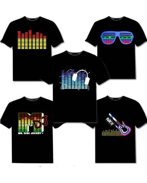 Tee-Shirt Lumineux Equalizer : 6 Modèles