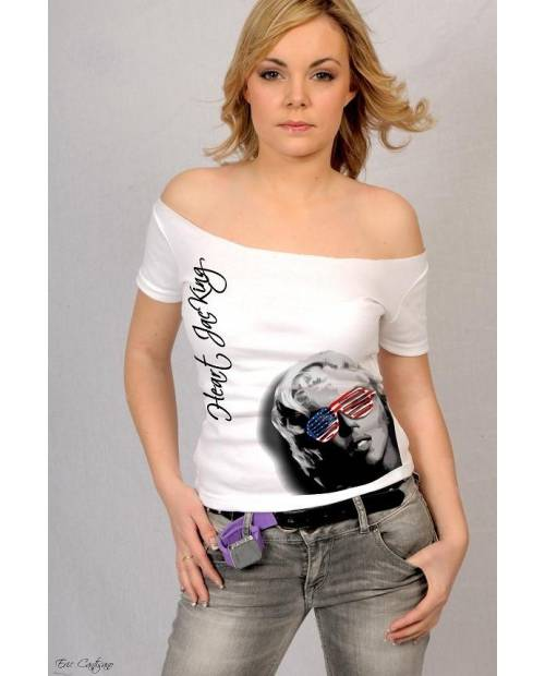 TEE SHIRT MARILYN MONROE USA