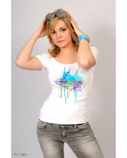 Splash White Tee Shirt