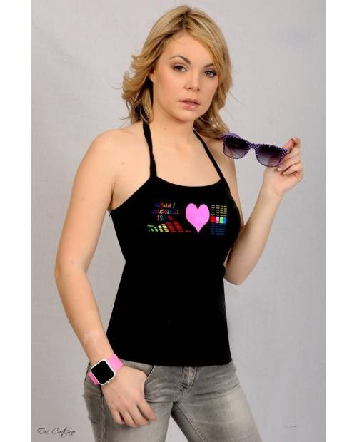 See On Line: T-Shirt Woman electroluminescent PinkHeart