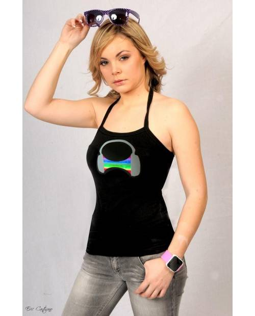 T Shirt Electroluminescent Cask Woman