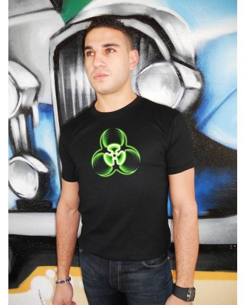 "T Shirt ""Biohazard"" LED EqualizerⓇ"