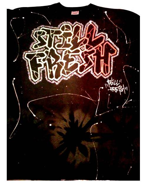 T Shirt Graffiti Still Fresh