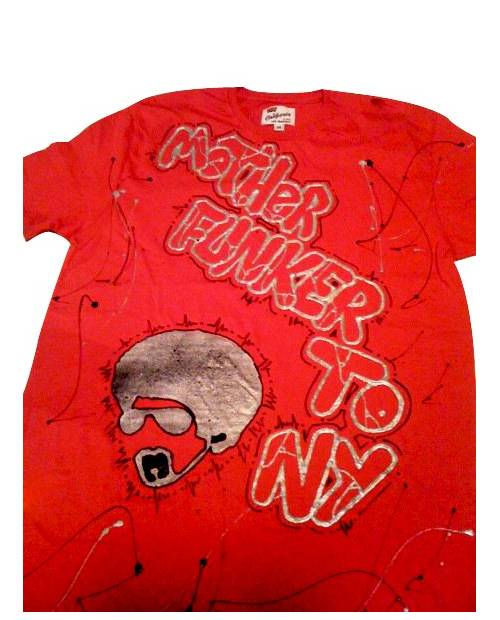 T Shirt Graffiti Mother Funker Rouge